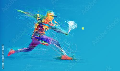 Fototapeta Abstract tennis player