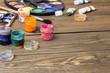 paint, brushes, palette