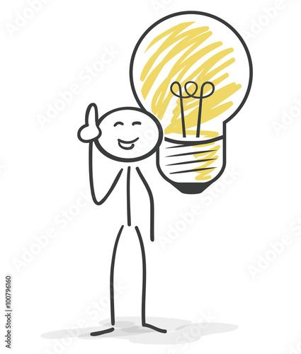 Strichm nnchen gl hbirne idee stockfotos und lizenzfreie vektoren auf bild - Lay outs idee ...