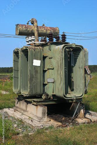 Old high voltage power transformer