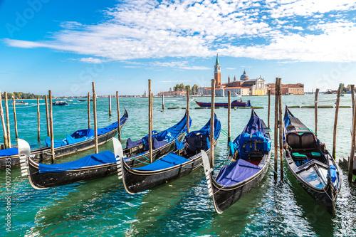 Plakát Gondolas  in Venice, Italy