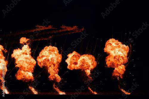 TUZLA,ROMANIA - JULY 04 : pilots performing at Tuzla airshow Aer Poster