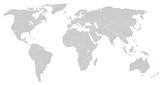 Szary mapa świata silhoeutte
