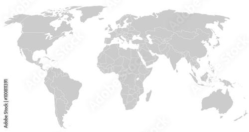 gray world map silhoeutte