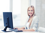 Fototapety businesswoman with computer