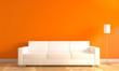 Moderne Wand mit Sofa