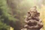 ganesha deity stone statue