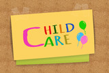 Child Care on sticky note