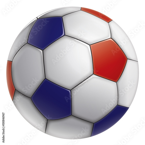 ballon de foot tricolore fichier vectoriel libre de droits sur la banque d 39 images. Black Bedroom Furniture Sets. Home Design Ideas