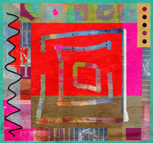 abstract background design on wood grain texture © jdoms