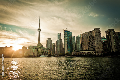 Toronto downtown, the close  view of city centre