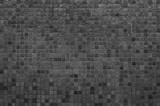 Grey and black mosaic wall texture and background.. - 100874196
