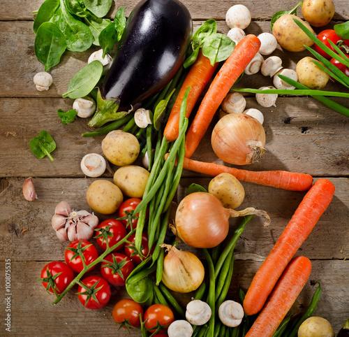 Fresh organic vegetables. Healthy eating. Poster