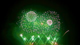 Colourful fireworks exploding high in the air. FullHD 1080p.