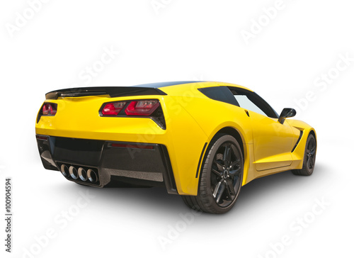 Plakat Yellow Sports Car