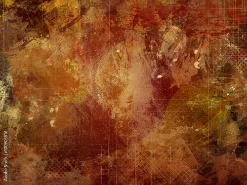 Abstract colour backdrop in acrylic paint.