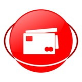 Red icon, credit card vector ilustration