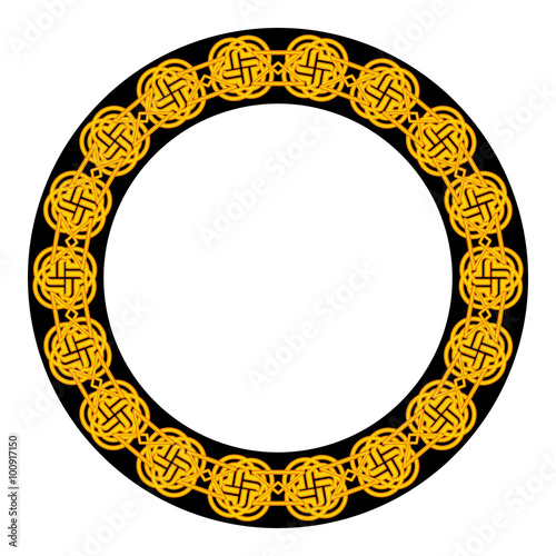Fototapeta Round frame with celtic ornament