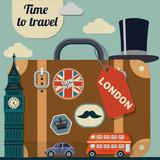retro vector illustration of London - 100921175