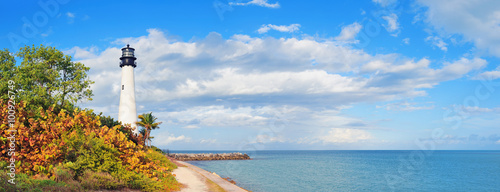 Cape Florida Light panorama - 100926749