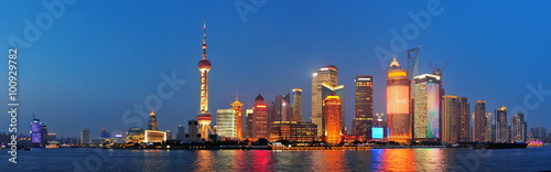 Foto op Plexiglas Shanghai Shanghai at night