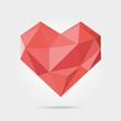 Polygonal Heart in Vector