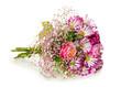 Obrazy na płótnie, fototapety, zdjęcia, fotoobrazy drukowane : Bouquet of pink flowers  isolated on white.