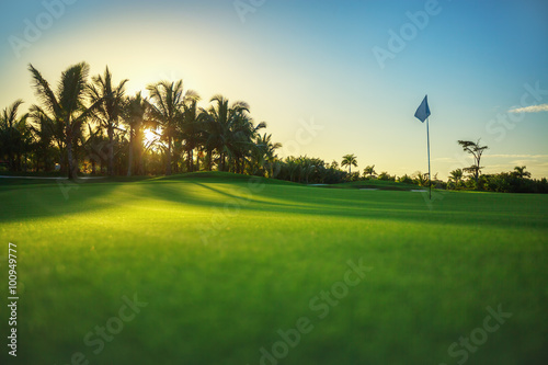 Foto op Canvas Gras Golf course in the countryside