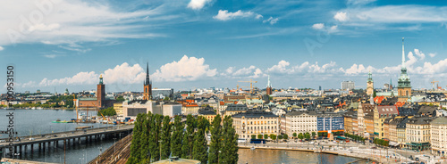 Panorama Of Old Town Stockholm, Sweden