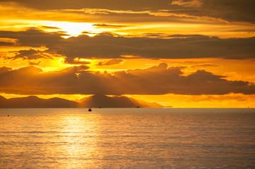 Sea of clouds on sunrise