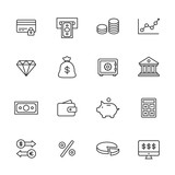 Finance Line Icons