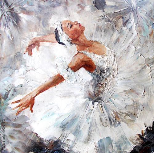 obraz-olejny-dziewczyna-baleriny-rysowane-slodkie-baleriny-taniec