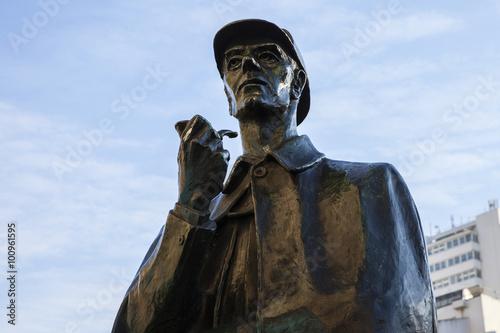 Poster Sherlock Holmes Statue in London