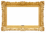 Rectangle decorative golden picture frame - 100968992