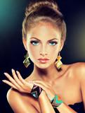 Fototapety fashion woman with jewelry .