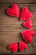 Obrazy na płótnie, fototapety, zdjęcia, fotoobrazy drukowane : Small red hearts