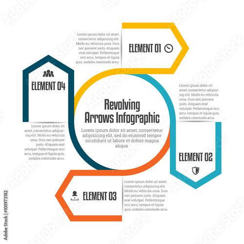 Revolving Arrows Infographic