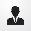 Business man icon for web and mobile