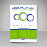 Editable vector template of flyer for business brochure, present