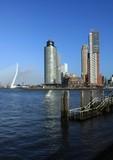 Rotterdam, Blick von Katendrecht zur Skyline am Kop van Zuid