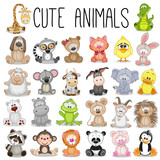 Fototapety Set of Cute Animals