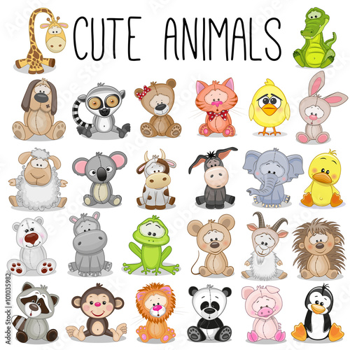 Fototapeta Set of Cute Animals