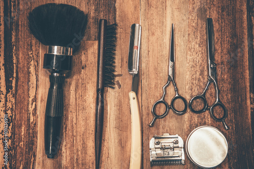 Barber tools. Plakat