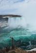 The spectacular Niagara Falls in winter.