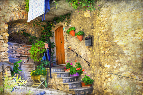 pictorial old streets of Italian villages