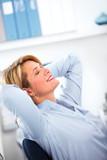 Relaxing business woman.