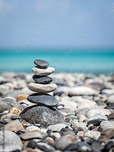 Foto op Canvas Zen Zen balanced stones stack