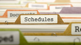 Schedules Concept on File Label.