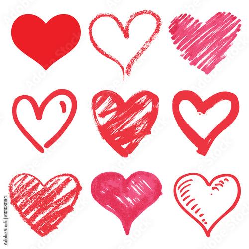 Zdjęcia na płótnie, fototapety, obrazy : heart series vector set