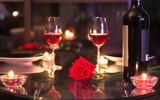 Fototapety Romantic dinner setting.